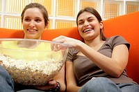 teenagers with popcorn