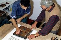 stampatori, collezione zucchi di antichi blocchi per la stampa a mano di tessuti 1785_1935