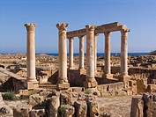 africa, libya, sabratha, archaeological area, roman temple