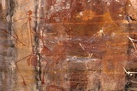 rock painting, kakadu national park, australia