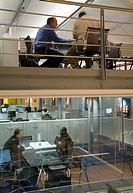 ARCHITECTS OFFICE, STUDIO 7 WOOTTON STREET, LONDON, SE18 WOOLWICH, UK, HKR ARCHITECTS HORAN KEOGAN RYAN, INTERIOR, MEETING ROOM AND MEZZANINE