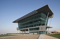 DUBAI AUTODROME, DUBAI, UNITED ARAB EMIRATES, HOK SPORT, EXTERIOR, LANDSCAPE VIEW OF SOUTH EAST ELEVATION