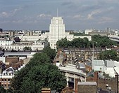 SENATE HOUSE, UNIVERSITY OF LONDON, MALET STREET, LONDON, WC1 BLOOMSBURY, UK, CHARLES HOLDEN, EXTERIOR, DISTANT VIEW