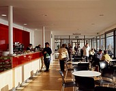 DE LA WARR SEASIDE PAVILION, BEXHILL ON SEA, EAST SUSSEX, UK, JOHN MCASLAN & PARTNERS, INTERIOR, CAFE BAR