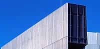 ONE OMOTESANDO, KITAAOYMA, MINATOKU, TOKYO, JAPAN, KENGO KUMA & ASSOCIATES, EXTERIOR, DETAIL OF FACADE SHOWING BOARDROOM WINDOW