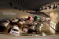 MERCEDES MUSEUM, MERCEDESSTRASSSER 100, STUTTGART, GERMANY, UN STUDIO BEN VAN BERKEL AND CAROLINE BOS, INTERIOR, SILVER ARROWS GALLERY