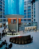 RADISSON SAS HOTEL, BERLIN, GERMANY, VIRGILE AND STONE ASSOCIATES LTD, INTERIOR, RECEPTION AREA AND AQUARIUM