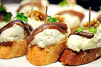 ´Pintxos´ typical dish of the Basque Country