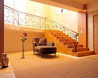 Spacious living room, staircase