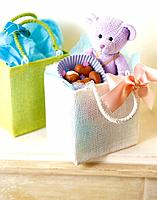 Gift box and teddy bear