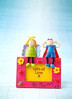 Paper clay toy, two people