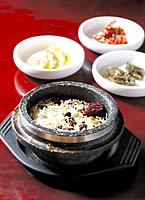 Rice and vegetables korean style