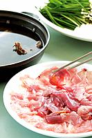 Asian food, meat and vegetable