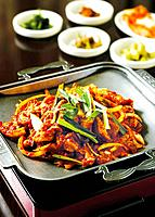 Spciy meat, Korean style