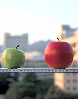 Apples on ruler