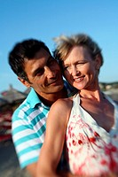 Mature adult couple on beach