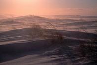 Winter landscape, Madeleine Island, Quebec, Canada,