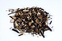 Black Bugbane root, Rhizoma Cimicifugae, Cimicifuga racemosa, cut out, object