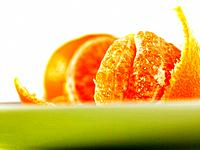 Open Satsuma fruit