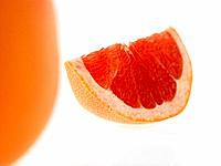 Blood Orange with slice cut out