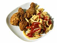 Fried Chicken and French fried Chips