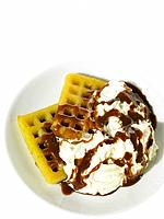 Food _ Waffles, Cream and Chocolate
