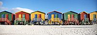 Row of Beach Huts South Africa (thumbnail)
