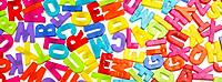 Various coloured plastic Letter magnets