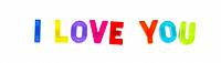 Plastic letter magnets spelling out I love you