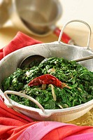 Indian_style spinach with chillies