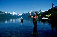 Fly Fishing at Chelatna Lake Alaska Range SC Alaska Summer