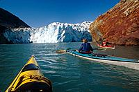 Sea Kayakers near S.Sawyer Glacier Tracy Arm SE AK Fords Terror Wilderness Area