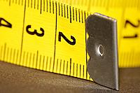 Soft plastic yellow measuring tape