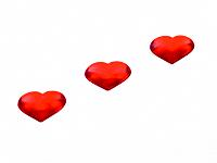Red hearts in a row (thumbnail)