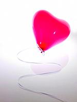 Pink heart shaped balloon