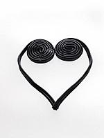 Black licorice in heart shape
