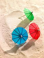 Umbrellas in sand