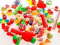 Close_up of assorted multi_colored candies