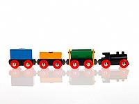 Close_up of a toy train
