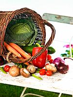 Close_up of vegetables in a basket