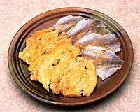 Closed Up Image of Some Dried Fish on a Brown_colored Plate, High Angle View