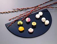 Japanese Sweets, High Angle View