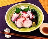 Sashimi Octopus, High Angle View