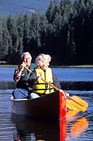 Senior Couple Canoeing