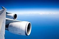 Airplane engines and blue sky (thumbnail)