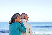 Senior couple near the sea
