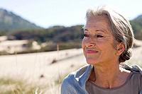 Serene looking senior woman (thumbnail)