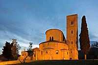 Italy, Tuscany, Sant'Antimo abbey church