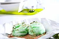 Aloe vera ice cream aromatized with thyme