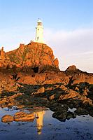 Channel Islands, Island of Jersey, La Corbiere Lighthouse, Lighthouse, Coast, Coastal, Coastline, Rock, Rocks, Sea, Wa